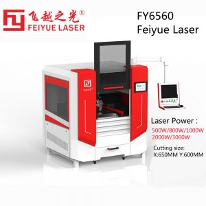 Fy6560 Feiyue Fiber Laser Cutter Machines Linear Guide THK Jewelry Plate CNC Precision Ss Stainless Steel Aluminum Base Board Sheet Metal Laser Cutting Machine